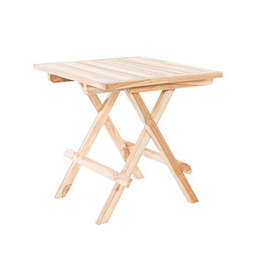 Beistelltisch Klapptisch Gartentisch Bistrotisch Teak Holz Natur
