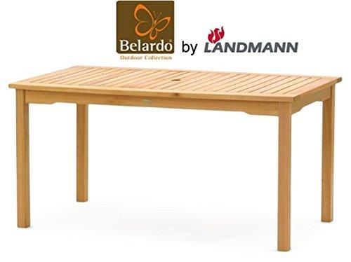 Belardo by Landmann Teakholz Gartentisch 150x90cm Holztisch Teak Holz Tisch NEU