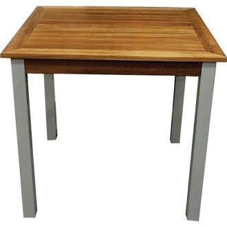 Bolero y821Quadratischer Tisch Holz und Aluminium, 800mm