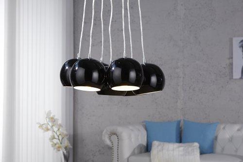 Design Hängeleuchte Black Pearls - Kugel Luxus Hängelampe Retroklassiker