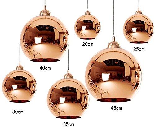 Dst Tom Dixon Copper Mirror Ball 20/25/30/35/40/45cm Deckenlampen Kronleuchter für Esszimmer Wohnzimmer Schlafzimmer
