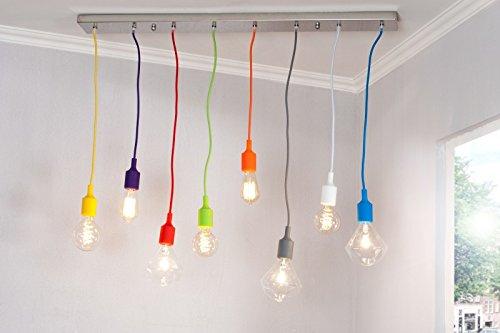 DuNord Design Hängelampe Hängeleuchte COLORFUL bunt 8 Lichter