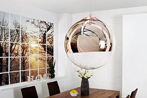 DuNord Design Hängelampe Hängeleuchte SPHERE Kupfer 40cm Glas kupfe