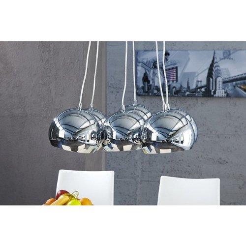 DuNord Design Hängelampe Hängeleuchte im Retro Design XL chrom