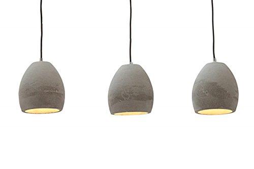 dunord design h ngelampe pendellampe b tong 3er beton grau industrie design lampe leuchte m bel24. Black Bedroom Furniture Sets. Home Design Ideas