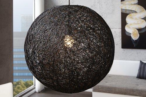 dunord design h ngeleuchte bozzolo xl h ngelampe schwarz manila hanf 60 cm m bel24. Black Bedroom Furniture Sets. Home Design Ideas