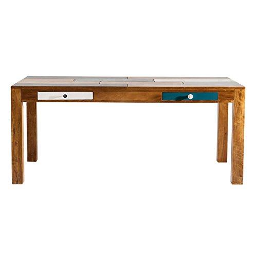 Esstisch Esszimmertisch Babalou 180x90, Kare Design, Holz Braun Bunt, Breite 180 cm, Tiefe 90 cm, Höhe 77 cm