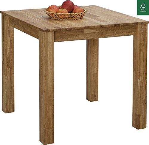 Esstisch Massivholz Eiche 100% FSC Bonn Esszimmertisch Massivholz Tisch
