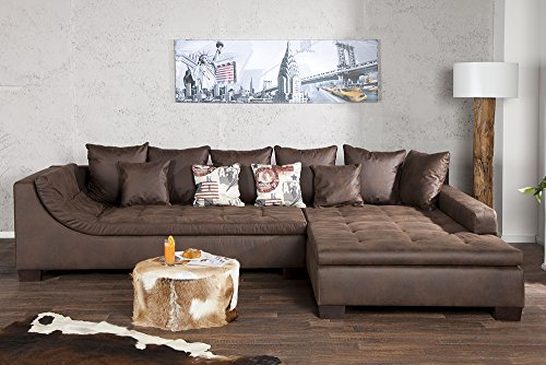 Exclusive wohnlandschaft mombasa braun antik ecksofa m bel24 for Exclusive esszimmertische