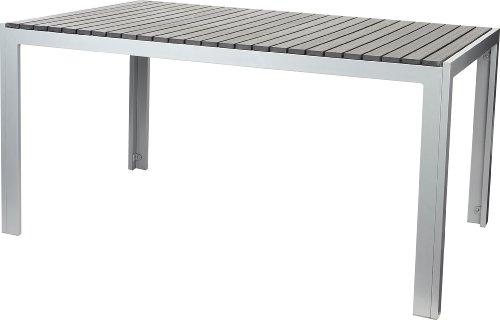 Gartenfreude Tisch Aluminium mit Non Wood Platte, Anthrazit, 150 x 90 cm