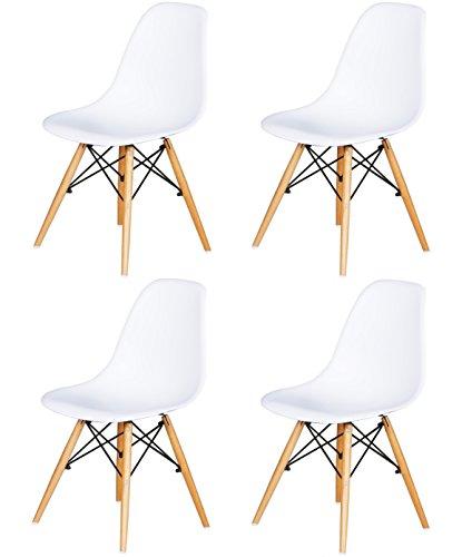 Green Forest Eames DSW Weiß 4U Set Stühle