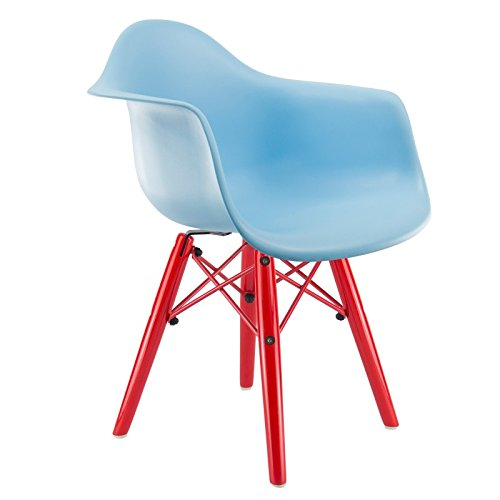 kid 39 s daw eames stuhl blau rot m bel24. Black Bedroom Furniture Sets. Home Design Ideas