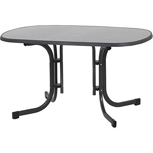 MFG Tisch Klapptisch 132 x 90 cm, grau