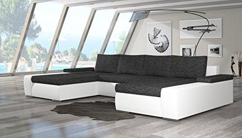 moderne wohnlandschaft marino mit schlaf funktion wohnzimmer couch mit robustem kunst leder. Black Bedroom Furniture Sets. Home Design Ideas