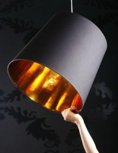 """Pendelleuchte """"Dark Sapphire"""" in Schwarz / Gold Größe: 41 x 45 x 45"""