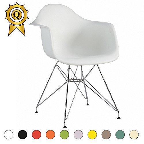 Verkauf 2 x Design-Sessel Eiffel Design Chrom-Metall Beine. Sitz PP Mobistyl® DAR-M2
