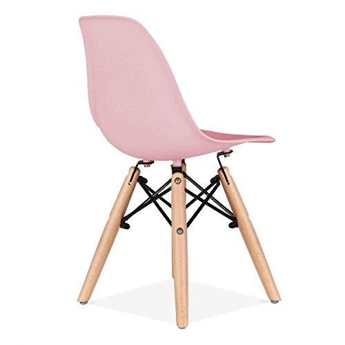 Promo 2x Stuhl Kinder Inspiration Eiffel Füße Holz Sitzfläche mobistyl® dswk-m-2