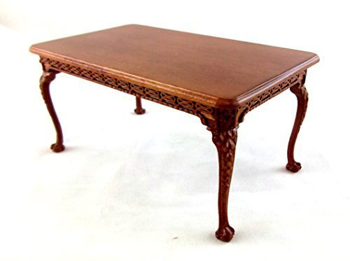 puppenhaus feinste miniatur m bel le franc walnuss esszimmertisch m bel24. Black Bedroom Furniture Sets. Home Design Ideas