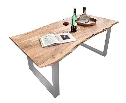 SAM® Massivholz Esszimmertisch Imke aus Akazie 180 cm echte Baumkante naturfarben lackiert