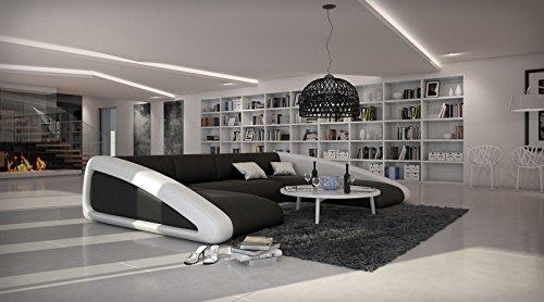 Sam sofa garnitur schwarz schwarz wei wohnlandschaft for Couchlandschaft xxl