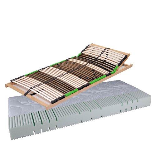 Dami_Balance Set Angebot Balance Matratze Komfortschaummatratze AIR Balance H2 und 7 Zonen Lattenrost Kopf