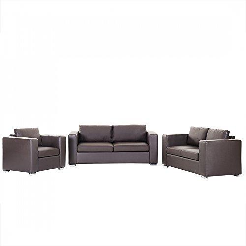 Sofa / Couch Braun - Ledersofa / Ledercouch Helsinki