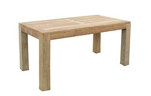 Teak Holz Tisch rechteckig mit quadratischen Eckbeinen 180x90x75cm