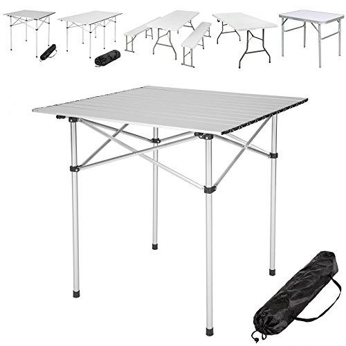 TecTake Klapptisch Campingtisch Gartentisch Campingmöbel - diverse Modelle -