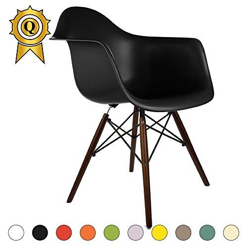 VERKAUF! 1 x Design-Stuhl Eiffel Stil Walnussholz Beine und Sitz Farbe Master Mobistyl® DAWD-M-1