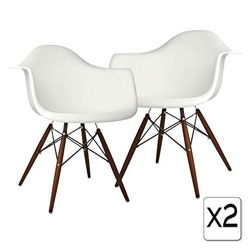 Verkauf 2 x design stuhl eiffel stil walnussholz beine for Design stuhl eiffel