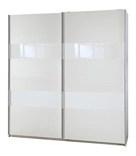 Wimex Kleiderschrank/ Schwebetürenschrank Chess Glas, (B/H/T) 180 x 198 x 64 cm, Weiß