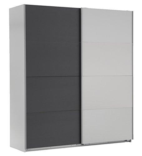 Wimex Kleiderschrank/ Schwebetürenschrank Easy A Plus, (B/H/T) 180 x 210 x 65 cm, Weiß/ Absetzung Anthrazit