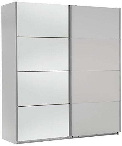 Wimex Kleiderschrank/ Schwebetürenschrank Easy A Plus, (B/H/T) 135 x 210 x 65 cm, Weiß/ Absetzung Spiegel