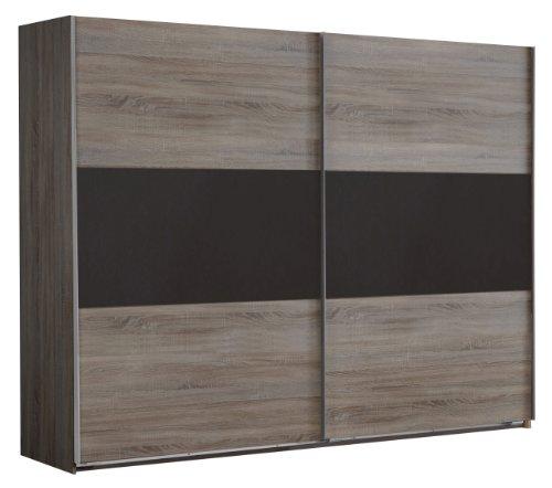 Wimex Kleiderschrank/ Schwebetürenschrank Match Up, (B/H/T) 225 x 236 x 65 cm, Montana Eiche/ Absetzung Lavafarbig