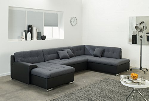 wohnlandschaft couchgarnitur u form rocky mit schlaffunktion 325 x205cm m bel24. Black Bedroom Furniture Sets. Home Design Ideas