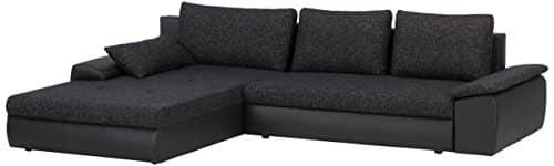 cavadore 885 polsterecke peerly longchair links 2 sitzer mit bettfunktion und bettkasten rechts. Black Bedroom Furniture Sets. Home Design Ideas