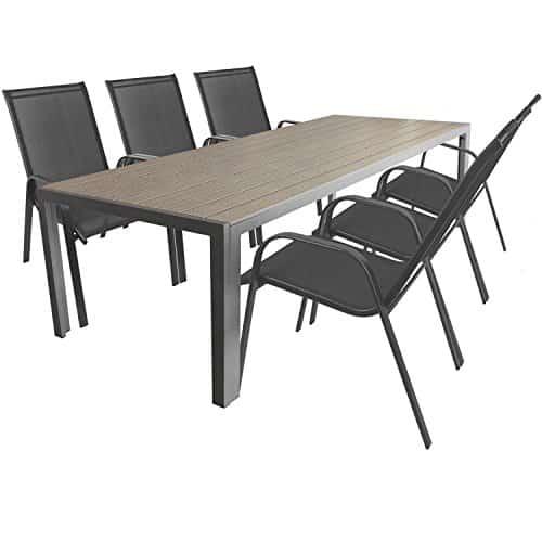 7tlg gartengarnitur terrassenm bel sitzgarnitur sitzgruppe gartenm bel set alu gartentisch. Black Bedroom Furniture Sets. Home Design Ideas