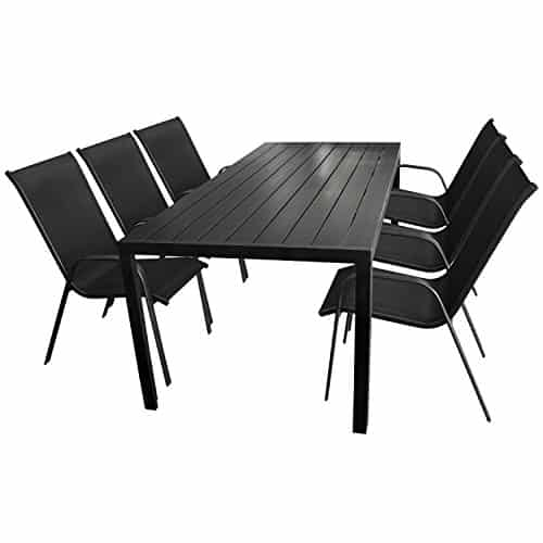 7tlg gartenm bel set aluminium gartentisch mit polywood. Black Bedroom Furniture Sets. Home Design Ideas