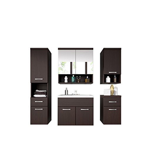 badm bel set bella iii mit waschbecken und siphon modernes badezimmer komplett spiegelschrank. Black Bedroom Furniture Sets. Home Design Ideas