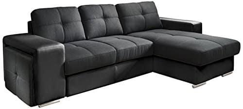 cotta c209660 c310h360 polsterecke mit schlaffunktion und bettkasten 278 x 157 cm kunstleder und. Black Bedroom Furniture Sets. Home Design Ideas