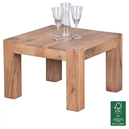 finebuy couchtisch massiv 60 x 60 cm massivholz wohnzimmertisch m bel24. Black Bedroom Furniture Sets. Home Design Ideas