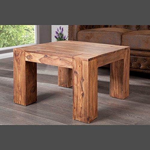 massiver couchtisch bahia i beistelltisch aus sheesham massivholz 60 x 60 cm m bel24. Black Bedroom Furniture Sets. Home Design Ideas