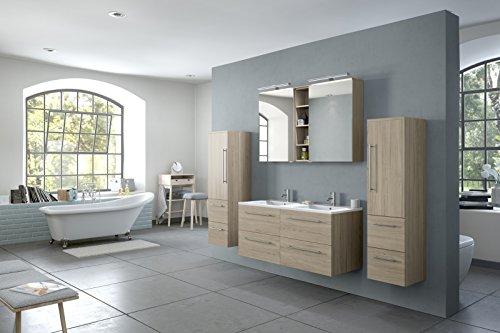 sam 4tlg badm bel set villa 120 cm designer badset mit doppelwaschplatz mit softclose. Black Bedroom Furniture Sets. Home Design Ideas