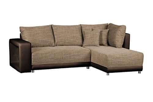 sofagarnitur in l form corona bison couch ohne federkern ecksofa mit schlaffunktion und. Black Bedroom Furniture Sets. Home Design Ideas