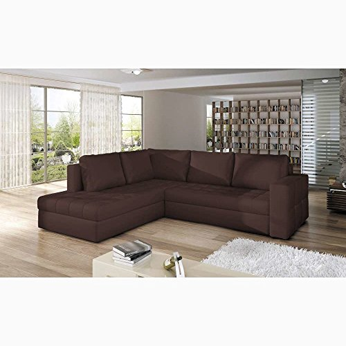 justhome camino ecksofa eckcouch mit bettkasten schlafcouch kunstleder bxlxh 220x265x90 cm. Black Bedroom Furniture Sets. Home Design Ideas
