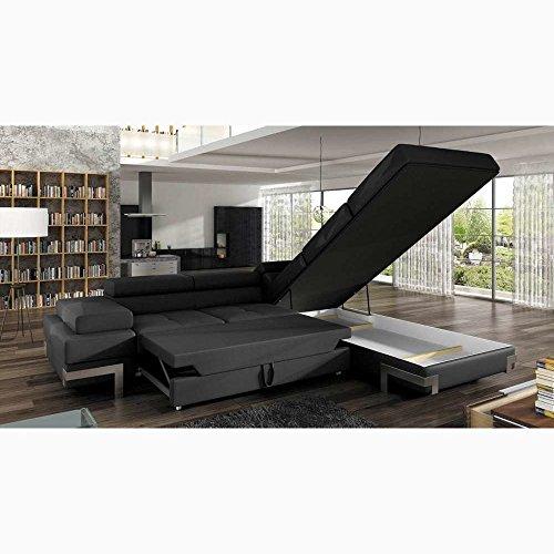 justhome emporio ecksofa eckcouch mit bettkasten schlafcouch kunstleder bxlxh 223x275x70 90. Black Bedroom Furniture Sets. Home Design Ideas