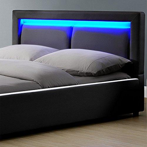 polsterbett murcia 140 x 200 cm schwarz mit kaltschaummatratze m bel24. Black Bedroom Furniture Sets. Home Design Ideas