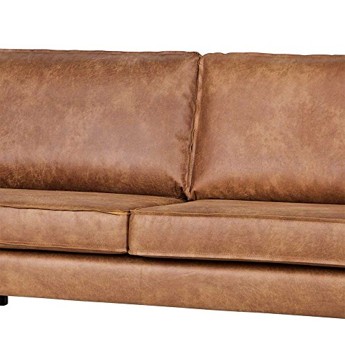 lounge sofa in braun recycling leder pharao24 5 m bel24. Black Bedroom Furniture Sets. Home Design Ideas