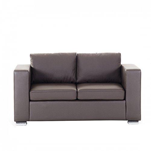 Sofa Leder braun 2-Sitzer HELSINKI