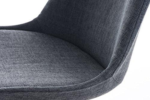 Clp design retro stuhl pegleg square stoffbezug for Schalenstuhl gepolstert